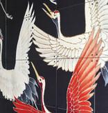 IXXI Kimono avec des grues décoration murale (recto-verso)