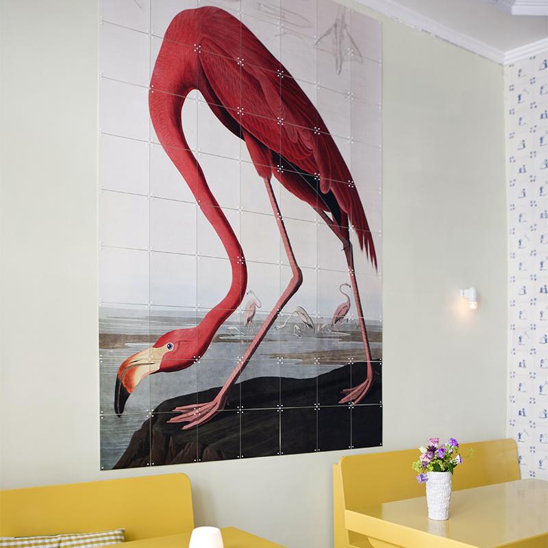 IXXI Flamant rose / Audubon décoration murale