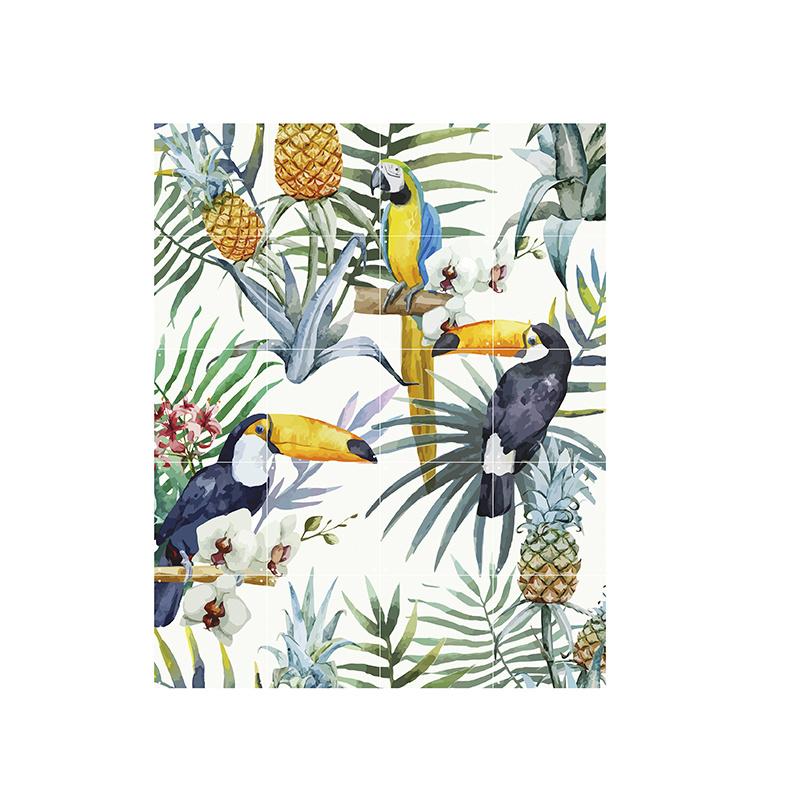 IXXI Tiger jungle & Toucan Family décoration murale  (recto-verso)