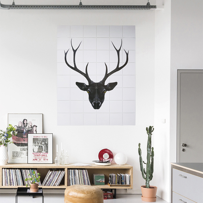 IXXI Deer black & white wanddecoratie (recto-verso)