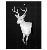IXXI Deer black & white décoration murale  (recto-verso)