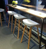 HAY Tabouret de bar 'About A Stool' AAS32 blanc - chêne