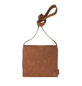 Zusss Joli sac à bandoulière à rabat M marron