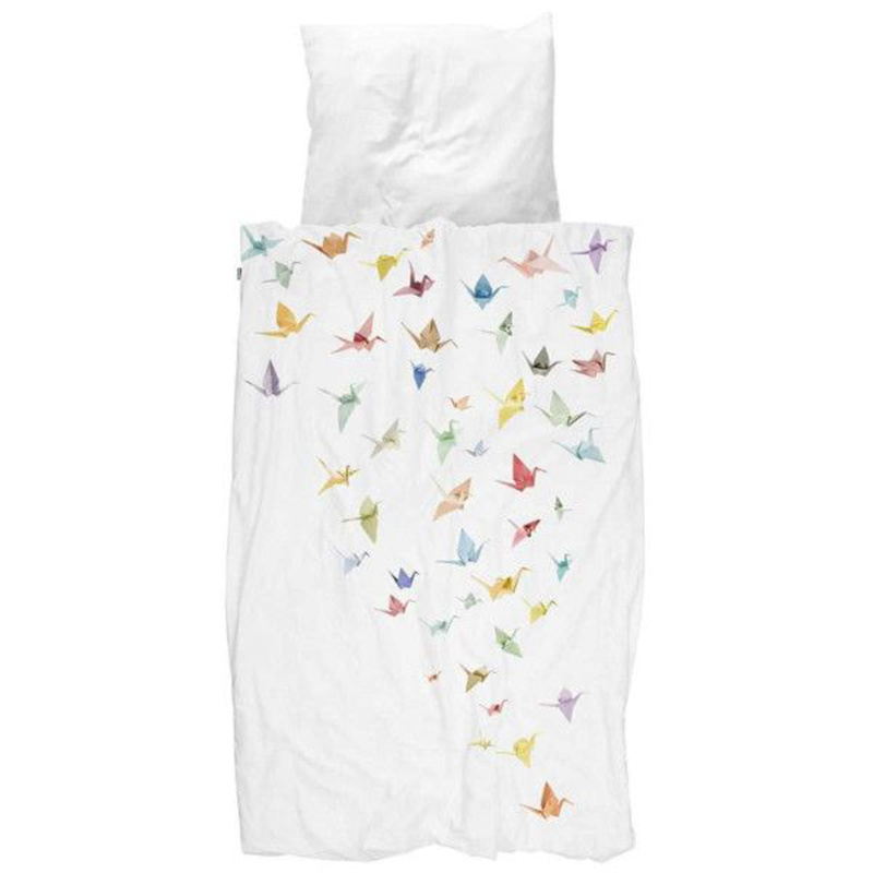 SNURK beddengoed Crane birds dekbedovertrek 1p