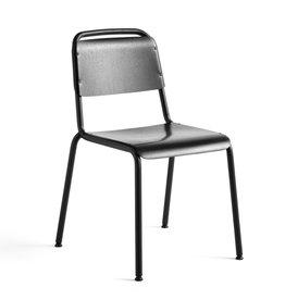 HAY Halftime stoel - zwart staal onderstel