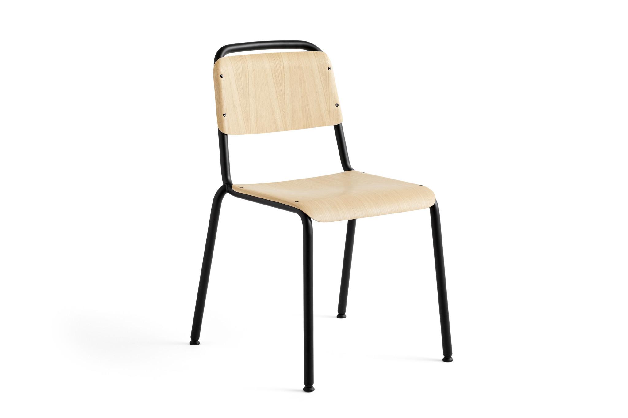 HAY Halftime stoel - zwart staal onderstel - HAY
