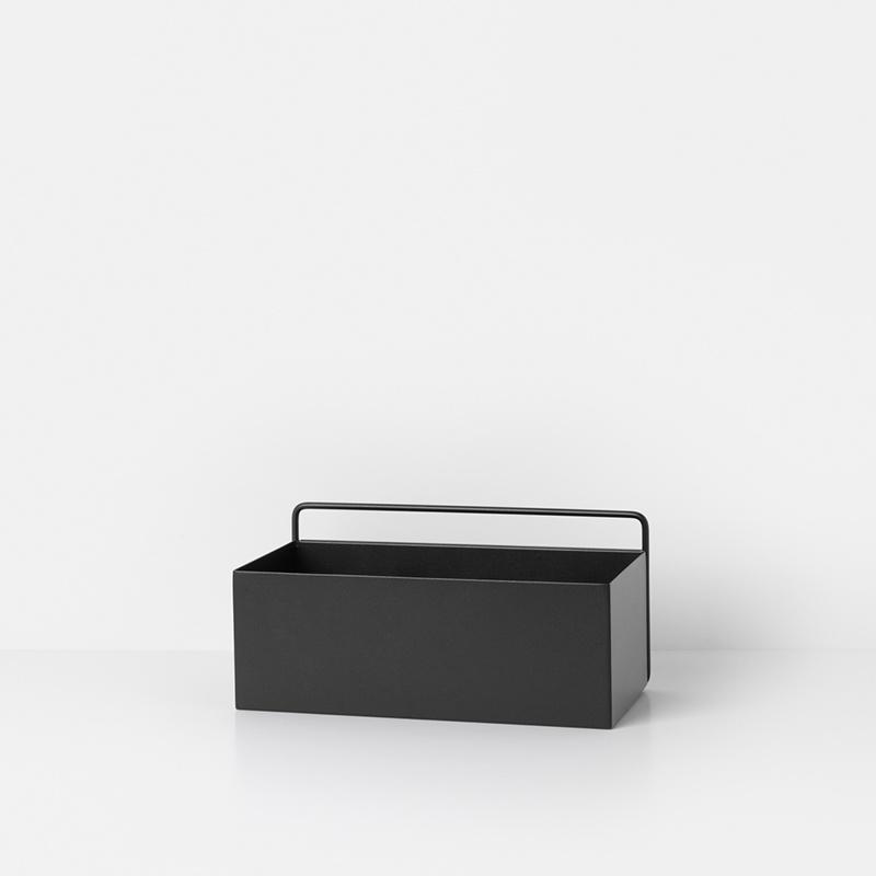 Fermliving Wall box - rechthoek zwart