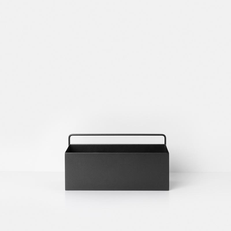 Fermliving Wall plantbox - rechthoek zwart