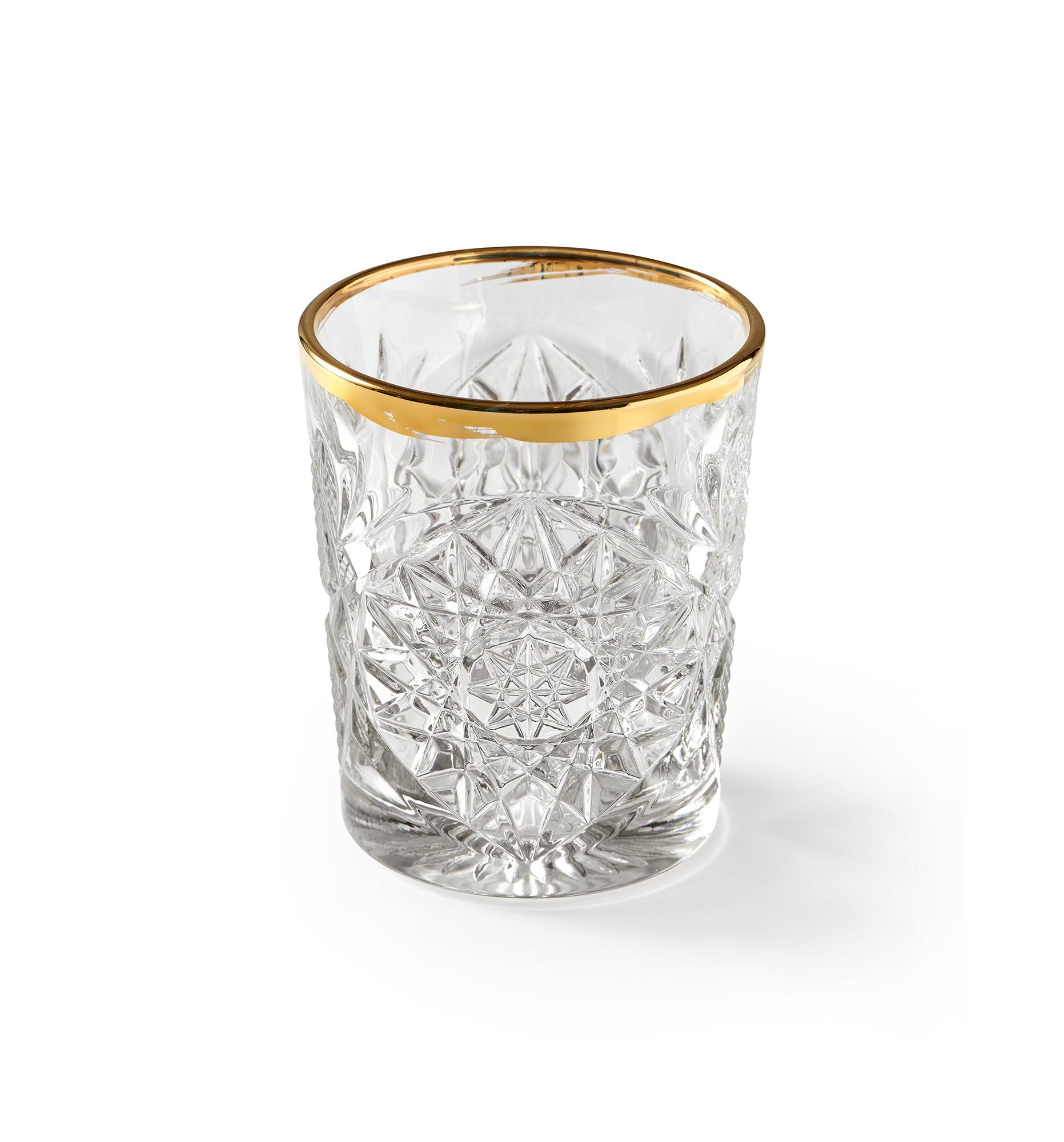 Libbey Glas n°1 Hobstar Gold 350ml