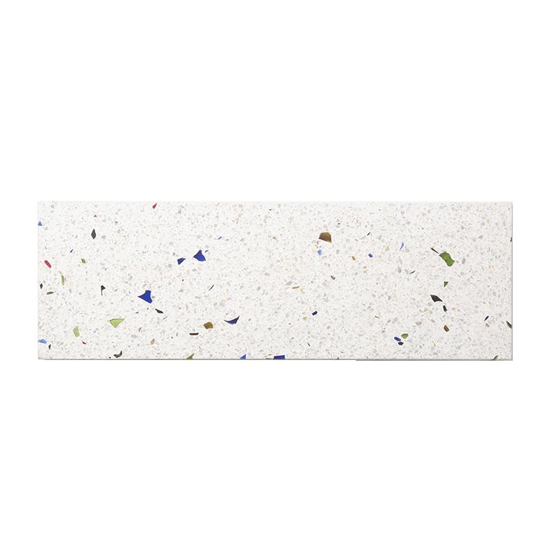 OK Design Assiette en terrazzo multicolor confetti