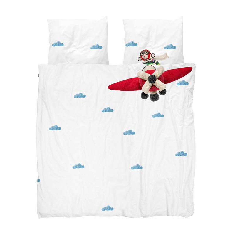 SNURK beddengoed Airplane Monkey dekbedovertrek
