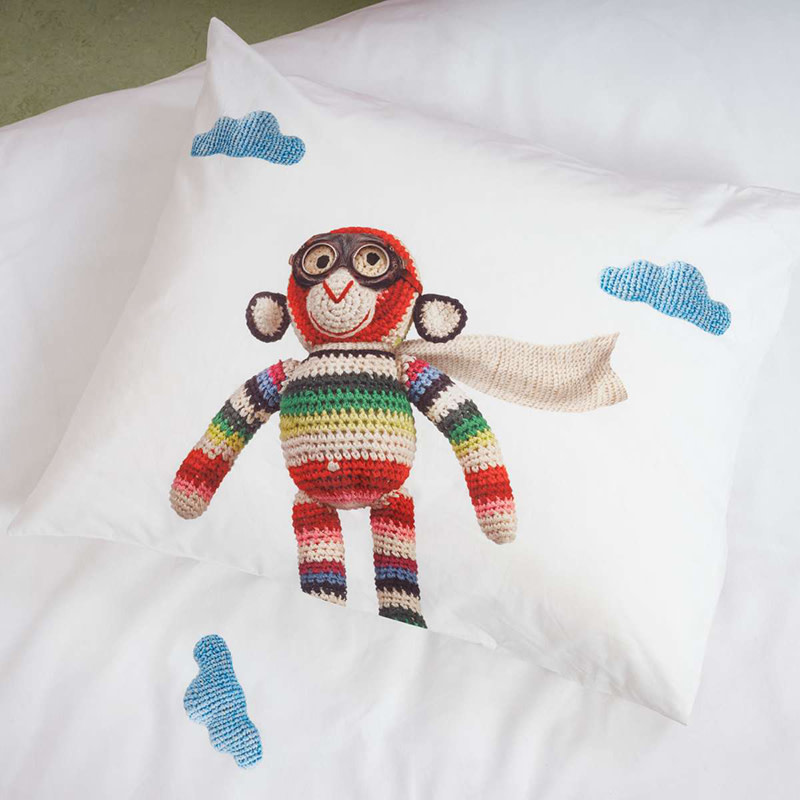 SNURK beddengoed Airplane Monkey housse de couette