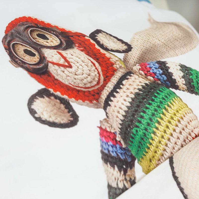 SNURK beddengoed Airplane Monkey housse de couette