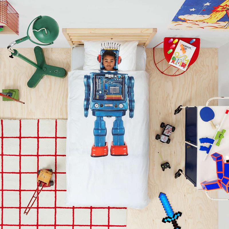 SNURK beddengoed Housse de couette Robot