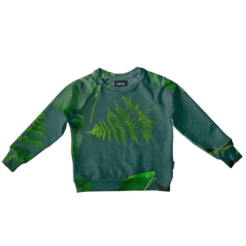 SNURK beddengoed Sweater kids green forest