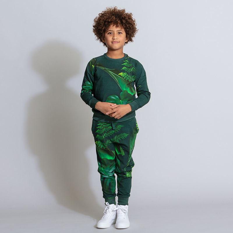 SNURK beddengoed Pantalon kids green forest