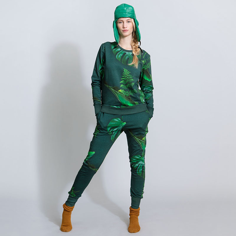 SNURK beddengoed Broek dames green forest