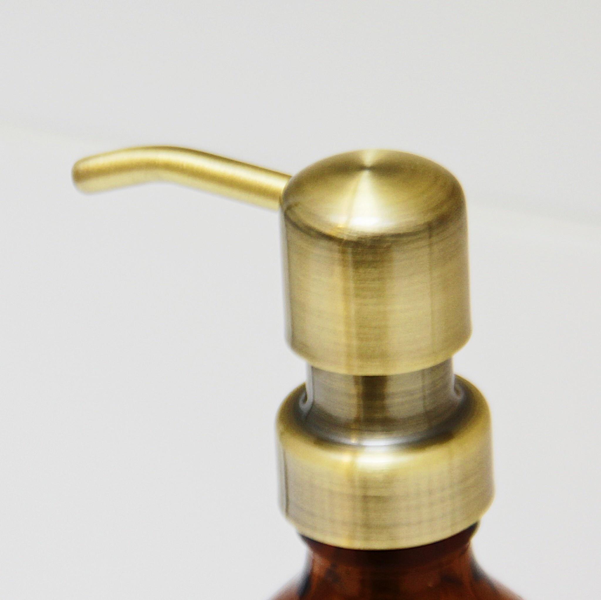 Wellmark Handzeep in glas - messing