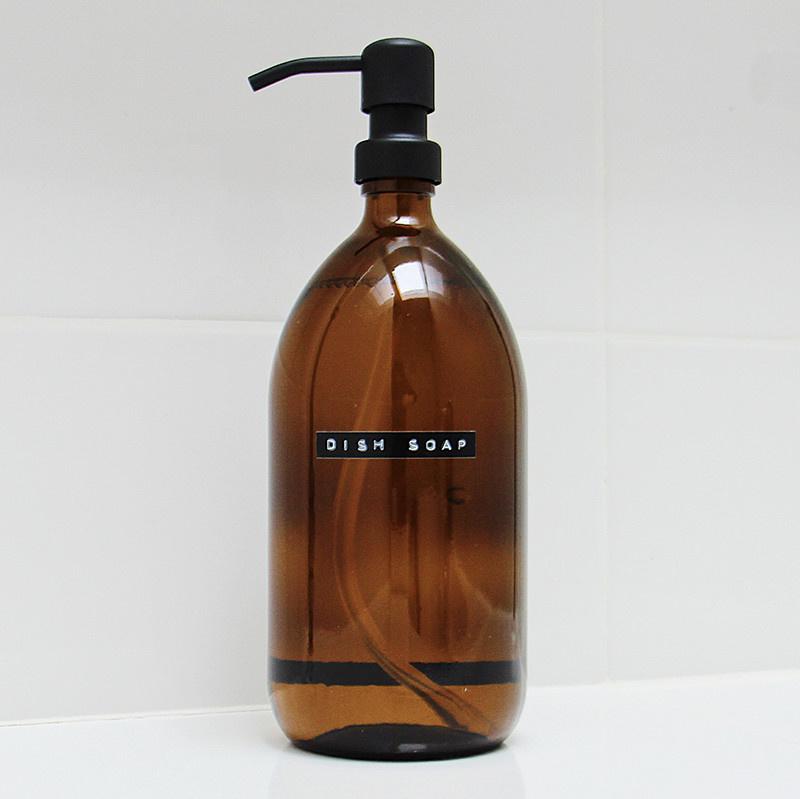 Wellmark Liquide vaisselle en verre - noir
