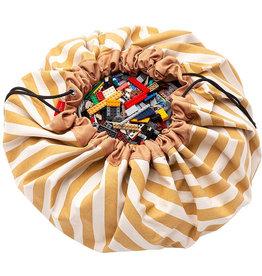 Play&Go Rayures Moutardes sac de rangement - tapis