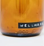 Wellmark Handzeep in glas - messing - shit happens, just wash - 500ml