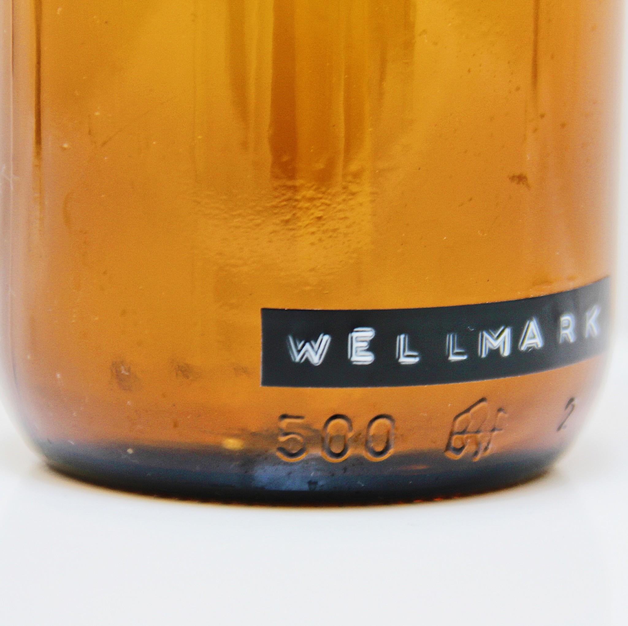 Wellmark Savon à main en verre - messing - merde arrive, il suffit de laver - 500ml