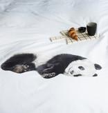SNURK beddengoed FLANEL panda dekbedovertrek 2p