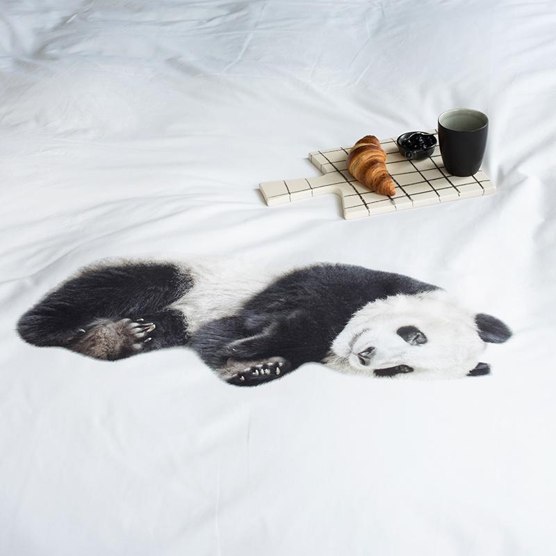 SNURK beddengoed FLANEL panda dekbedovertrek 1p