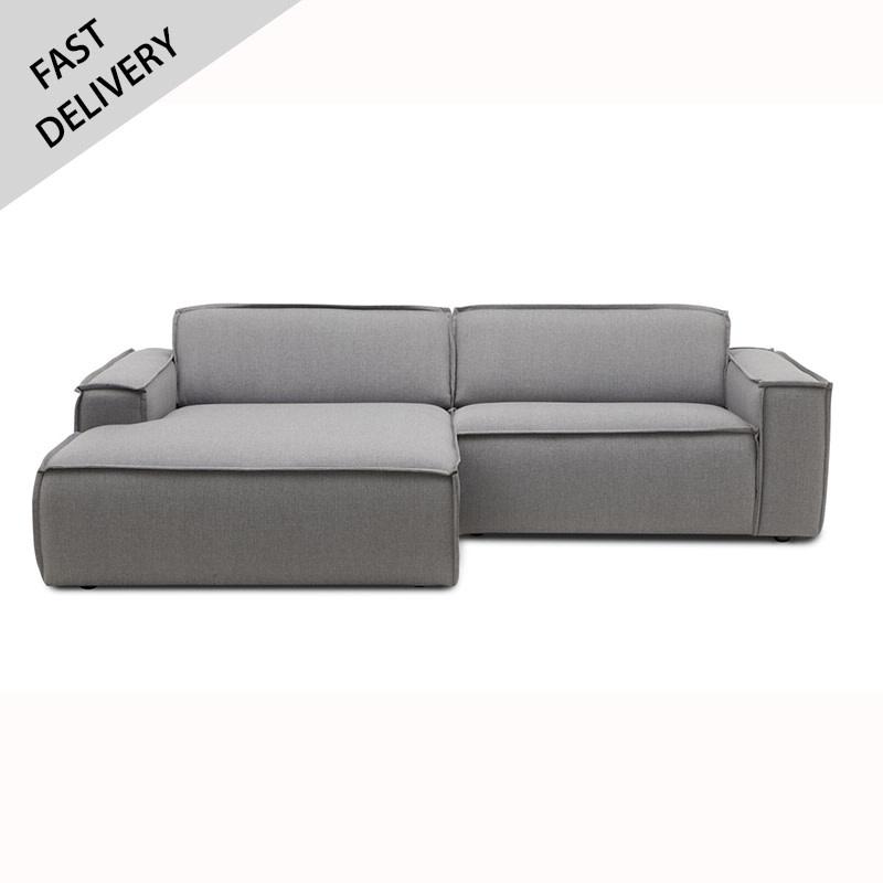 Fest Amsterdam Edge sofa 1.5 seat + divan - Sydney 91 grijs