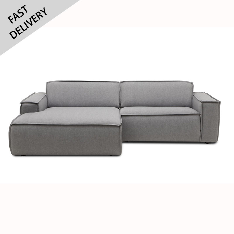 Fest Amsterdam Sofa Edge 1.5 seat + divan Sydney 91 grey