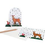 Studio Roof 3D puzzel / postkaartje rendier