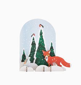 Studio Roof 3D puzzel / postkaartje  wintertale vos en konijn