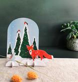 Studio Roof 3D puzzle/ carte postale wintertale renard et lapin
