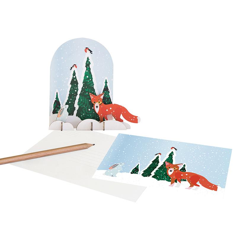 Studio Roof 3D puzzel wintertale vos en konijn