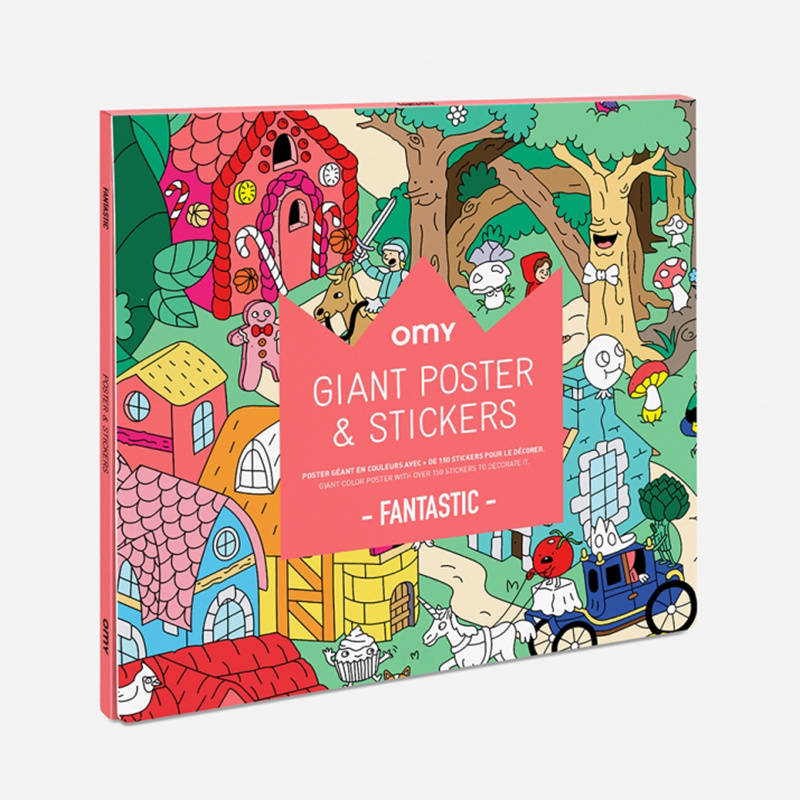 OMY Poster Fantastic met 150 stickers