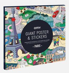 OMY Poster Parijs met 150 stickers