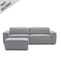 Fest Amsterdam Edge sofa 3-zits met poef (fast delivery)