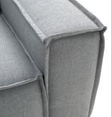 Fest Amsterdam Edge sofa  3-zits + hocker - Sydney 91 grijs (fast delivery)