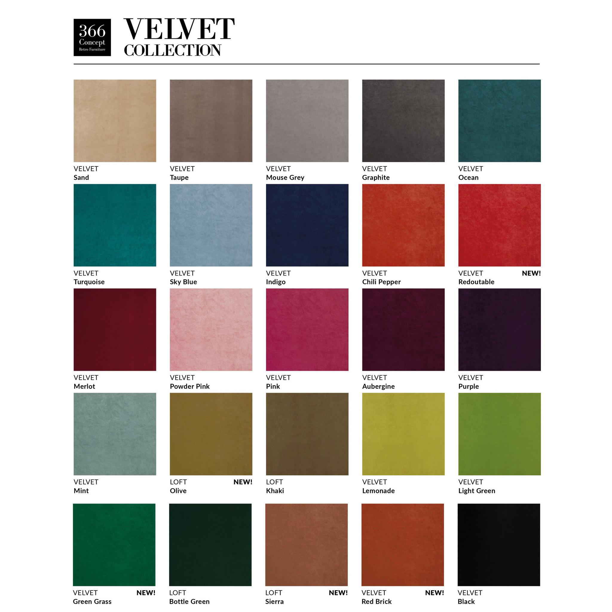 366 Concept Fox Armchair Velvet - Hout in foto's is donkere es!