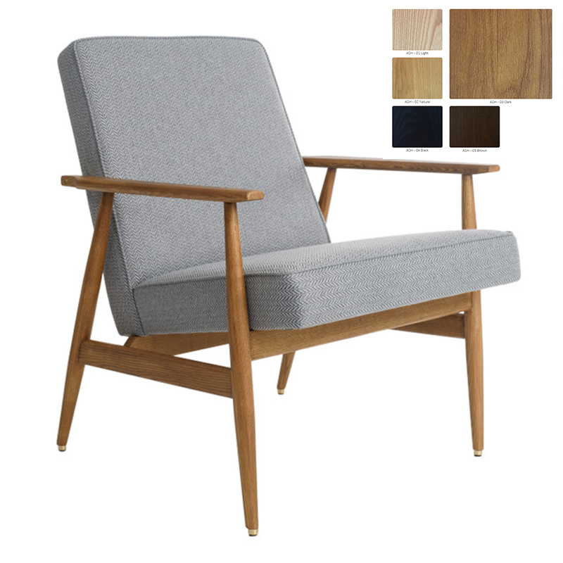 366 Concept Fox Armchair Tweed - Hout in foto's is donkere es!
