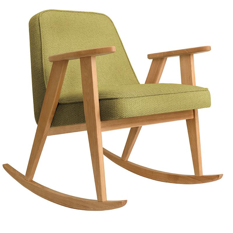 366 Concept 366 Rocking chair Tweed - Hout in de foto's is naturel eik!