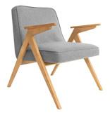 366 Concept 366 Bunny armchair Tweed - Hout in de foto's is naturel eik!