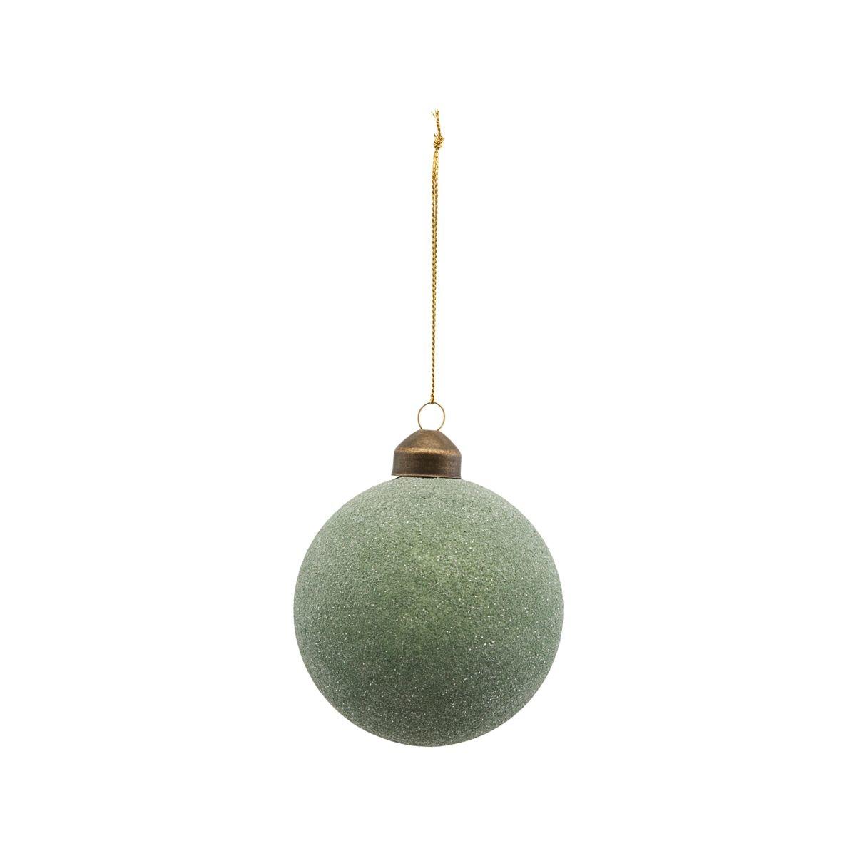 House Doctor Kerstbal Glittery Green