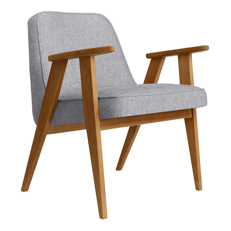 366 Concept 366 Armchair Loft - Hout in foto's is donkere eik!
