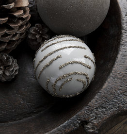House Doctor Kerstbal Gold Grey