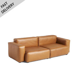 HAY Mags soft - low armrest Cognac leather