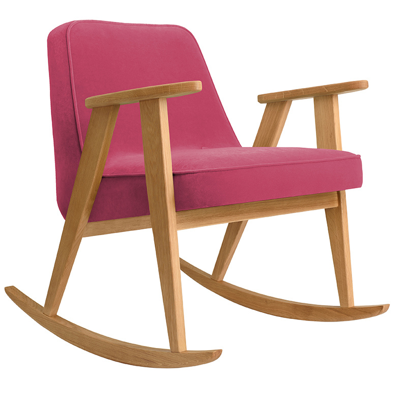 366 Concept 366 Rocking chair Velvet - Hout in foto's is naturel eik!