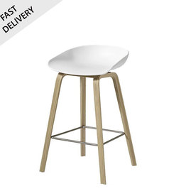 HAY AAS32 tabouret de bar 'About A Stool' FAST TRACK (blanc) laqué mat