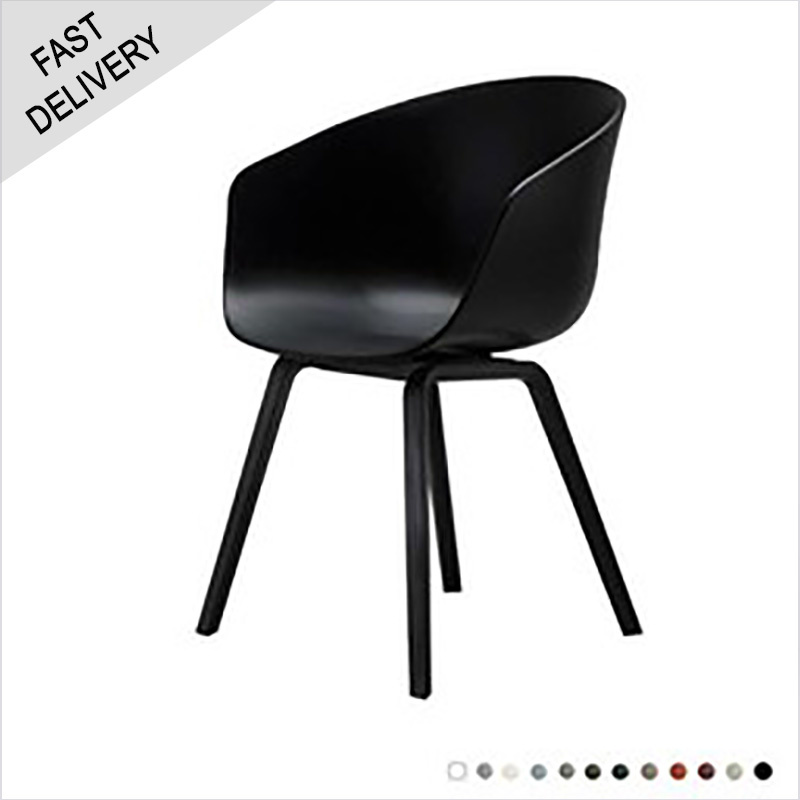 HAY AAC 22 stoel 'about a chair' FAST TRACK (zwart gebeitst onderstel)