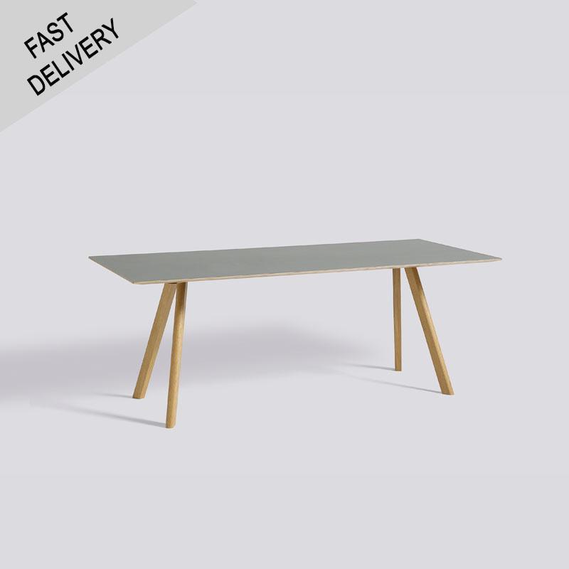 HAY CPH30 tafel (mat gelakt eik onderstel, grijs linoleum blad) FAST TRACK